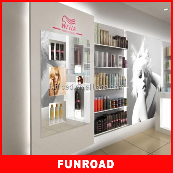 Hot Selling Mdf Display Stand Beauty Salon Wall Cabinet With ...