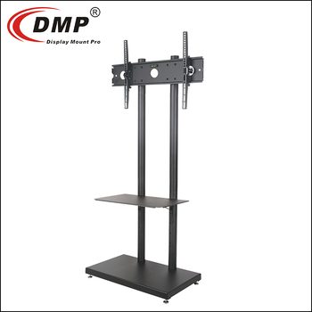 ND6495 High quality adjustable mobile TV screen display stand tv cart