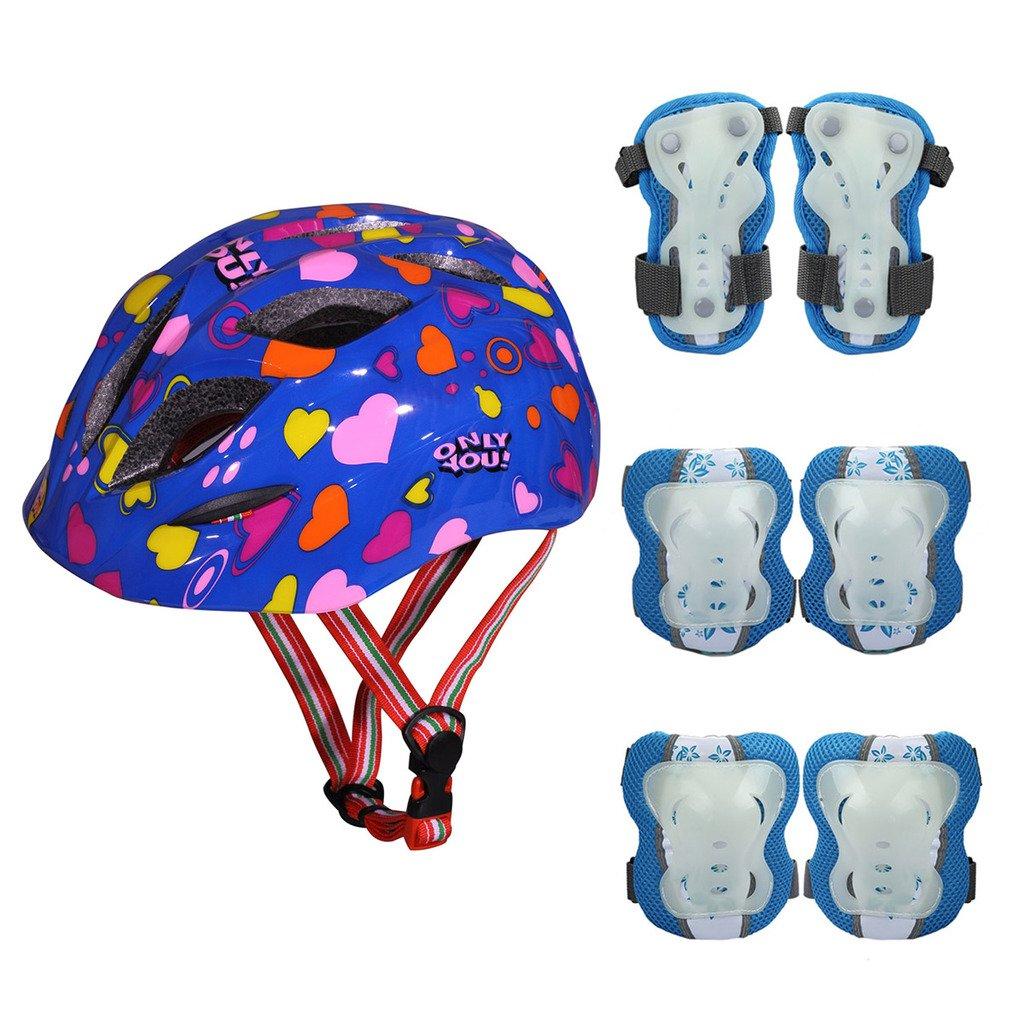 Kid/'s Skateboard Longboard Helmet and Knee /& Elbow Pads Wrist Guard Combo Set