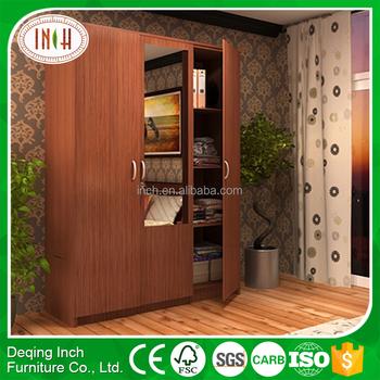 Standard Size Wardrobe Wardrobe With Bookshelf Single Door Wardrobe