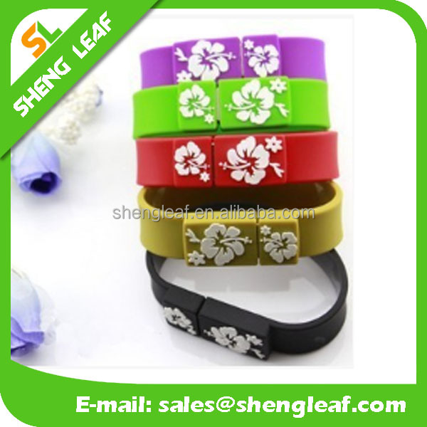 Top selling special Silicone Wristband USB Flash Drive