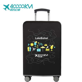 Custom travel colorful suitcase protector elastic  spandex suitcase luggage bag cover