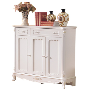 Delicieux White Antique French Style Three Door Living Room Wooden Shoes Cabinet  Furniture Hobby Lobby