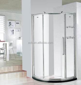 Foshan Curve Glass Thickness Selection Shower Door With Double