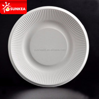 Compostable eco friendly bagasse disposable tableware from sugarcane