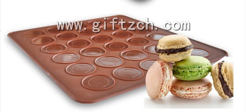 30 in 1 silicone macaroon cakecup mould pads