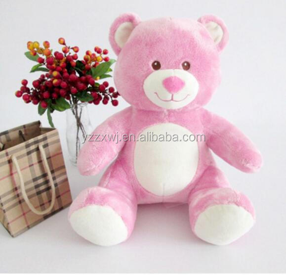 free sample Plush stuffed custom teddy bear Plush Bear Plush Stuffed Animal Toy cute soft stuffed pink bear toys