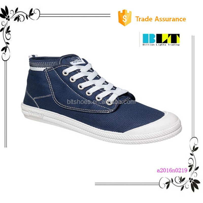 $1 dollar hith top handmade men shoe casual made in chian canvas