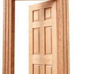 Anti Scratch Mdf Melamine Molded Door Jamb With Waved Architraves