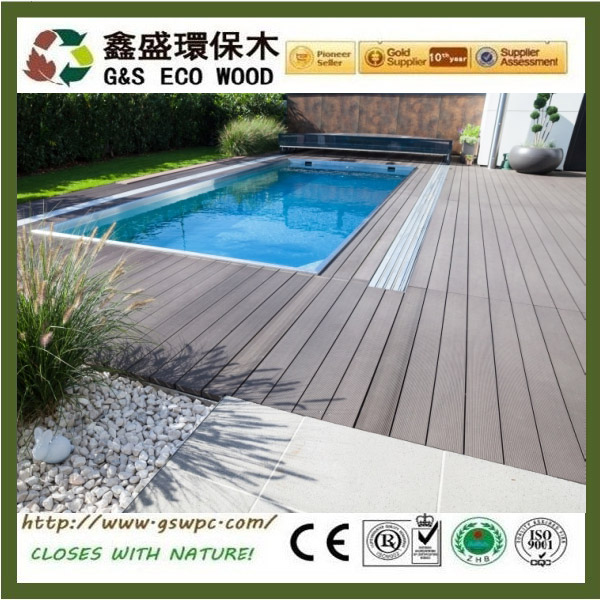 Easy install balcony wpc floor high quality and cheap price wpc timber outdoor decking