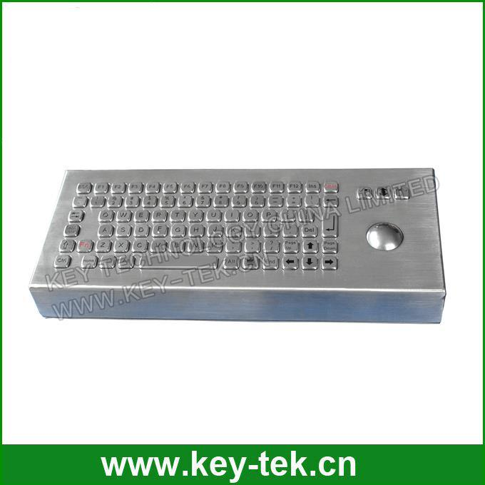 ESD industrial metal kiosk keyboards for government use