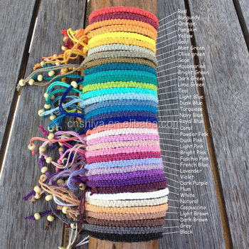 Mixed Colors Knotted Handmade Woven Friendship Bracelet Bohemia Braided