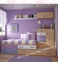 Contemporary Design children /Kids Bedroom Set MDF kid furniture for study room