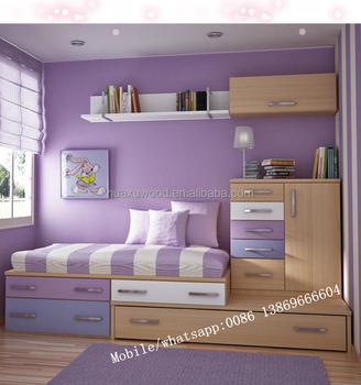 Contemporary Design Children Kids Bedroom Set Mdf Kid Furniture For