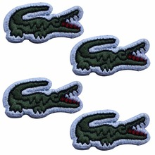 custom embroidered patches cheap cost animals crocodile patch appliques motif