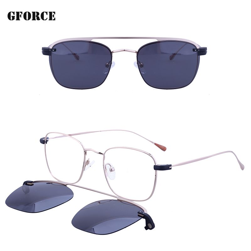New model custom logo best sell UV400 high quality polarized fashion metal stock clip on sunglasses