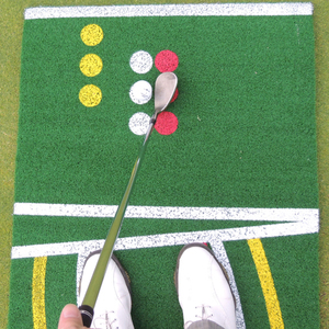 Non-slip Rubber Backing Customized Tufted Nylon Golf Putting Mat