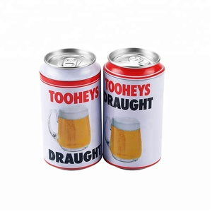 Packaging custom printed beer tin can compressed t-shirt