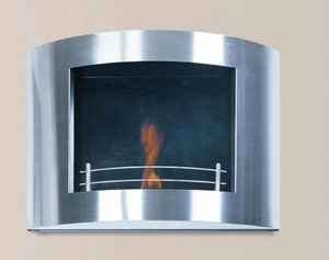 Indoor decorative stainless steel gel alcohol fuel eco bio fireplace for home