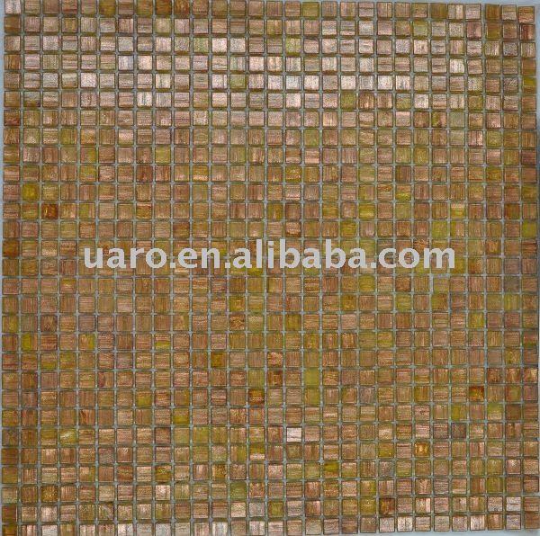 neuheit g034 10x10mm gold line glasmosaik schrott Herstellung Hersteller, Lieferanten, Exporteure, Großhändler