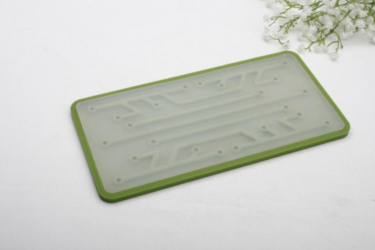 Kitchenware non-slip Dish/Glass Silicone drying mat with custom logo