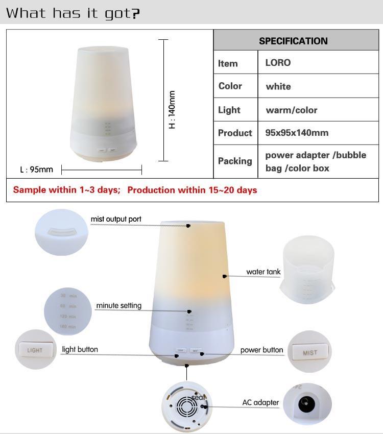 Escent Control Essential Ultrasonic Aroma Oil Lamp Diffuser - Buy ...