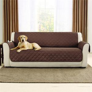 Protective brown color sofa cover for home use
