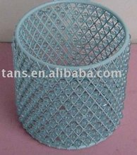 Round Wire Basket with Beads GR52252-S