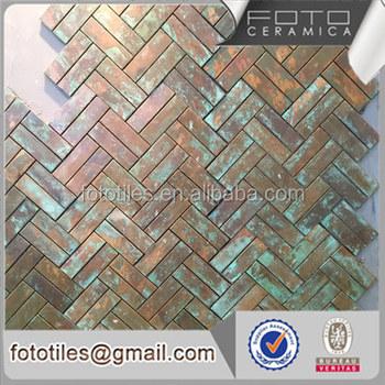 Wonderlijk Koperen Strip Grootte Baksteen Tegel Baksteen Blik Mozaïek Muur CI-44