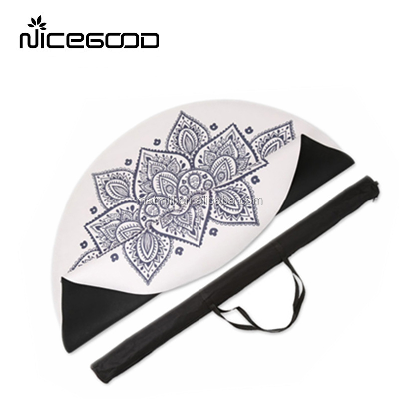 2019 wholesale eco friendly round yoga mat custom circle yoga meditation mat