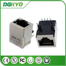 KRJ-13PBNL shielded single port Integrated magnetics RJ45 connector