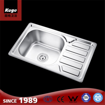 Foshan Stainless Steel Corner Standard Size Kitchen Sink With Drainboard