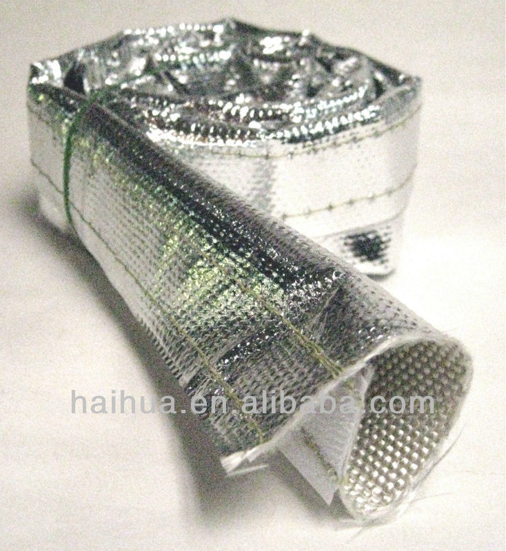 Aluminized Reflective Mylar Foil Heat Shield Fire Heat Sleeve