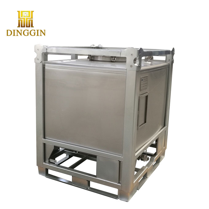 stainless steel chemical storage IBC tank,tote,container with frame