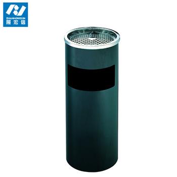 round trash binpainted metal trash binelevator trash can with ashtray