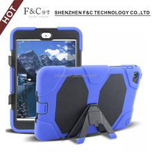 Heavy Duty Robot hard case cover tough Rugged silicone rubber Case Drop Resistance Anti-slip PC+Silicone case for ipad mini 4