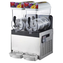 2 Heads Slush Machine /2 Bowel Ice Slush Maker Machine