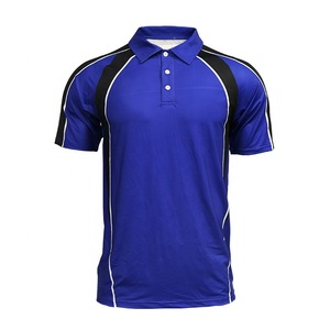 Cut And Sew Polo Shirt Custom Blue Color Wholesale Cheap Polo T Shirt