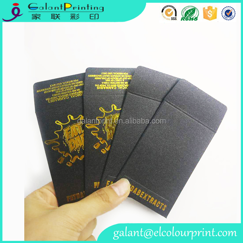 Custom design Original Black Gold Shatter Wax Extract Coin Foil Envelopes