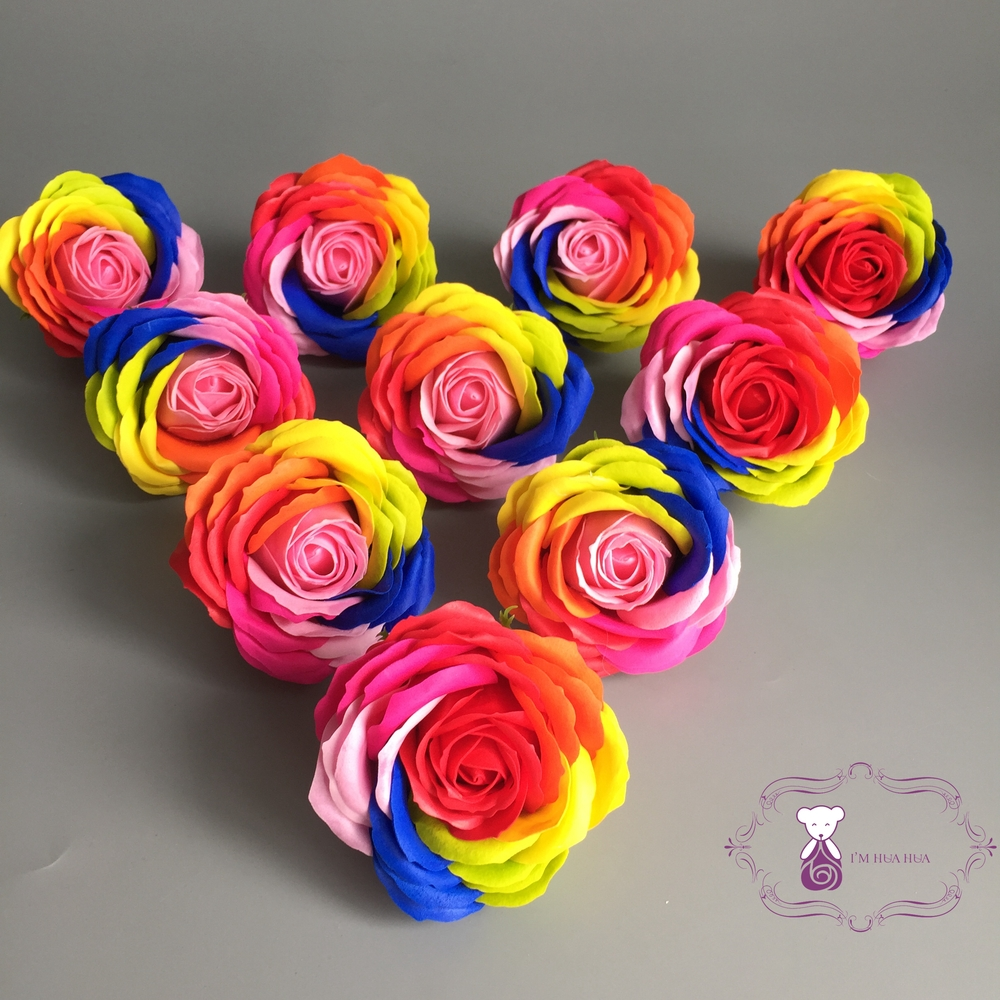 Wholesales Handmade Rainbow Rose Soap Flower Buy Sabun Red Img 8742 8740