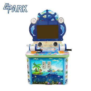 Kids coin operated Electronic video arcade fishing game machine