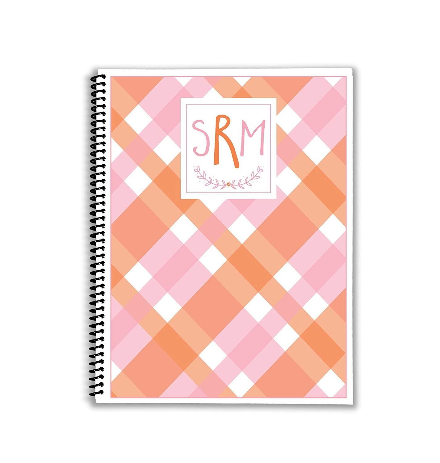 Mad About Pink Plaid Monthly and Weekly Meal Planner with Shopping Lists and Inventory Pages