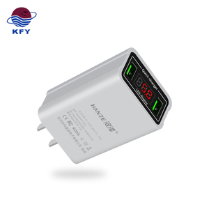 New Design DC 5V 3.1A Travel USB Charger US Plug Smart USB Wall Charger with LED Display