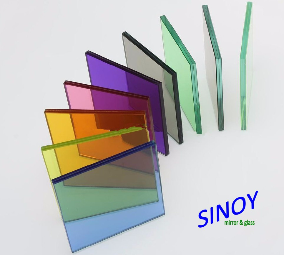 4mm 5mm 6mm 8mm Bronze Green Blue Grey Float Glass Color