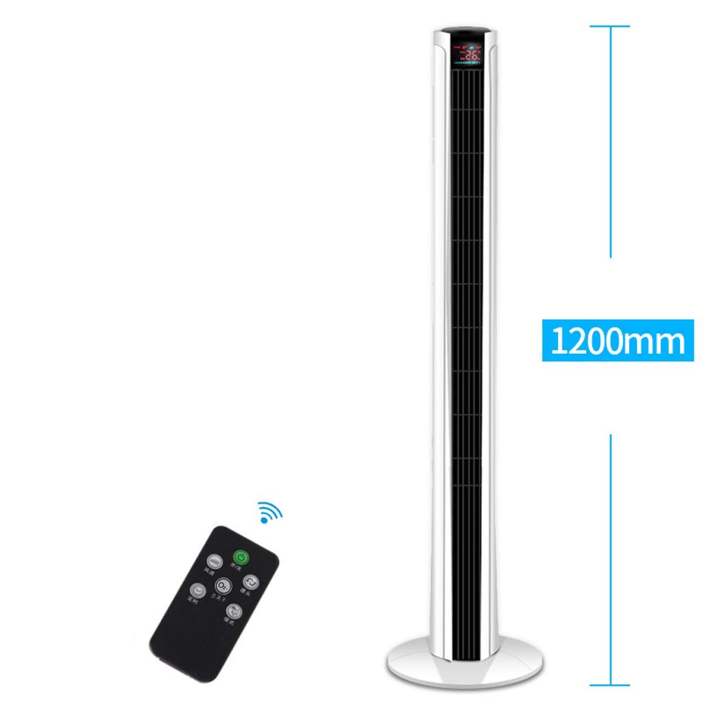 DNSJB Tower Fan Home Vertical Silent Air Conditioning Fan, Desktop Timing Remote Control Leafless Fan, Floor Fan Electric Fan Negative Ion Purification Air