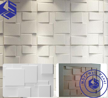 Fireproof Restaurant Kitchen Wall Panels Square Pettern Melamine Mdf Panel  Veneer Mdf For Furniture