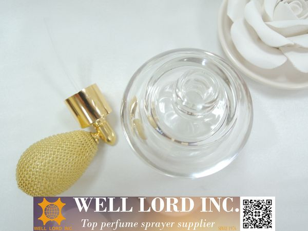 Popular wedding gift set 50ml perfume with red bulb sprayer bottle