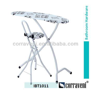 how to stand iron on ironing board