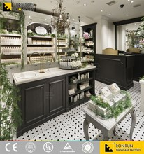 RCF1135 Unique design, fresh natural cosmetic makeup display showcase and cabinet design by large scale factory
