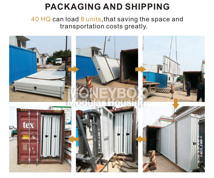 CSC CE certification prefab shipping foldable container house folding container